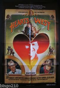 HEARTS-OF-THE-WEST-1-SHEET-POSTER-JEFF-BRIDGES-HOLLYWOOD-COWBOY-1975