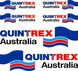 Quintrex Mirrored Four Colour Set Fishing Boat Stickers Decals EBay - Decals for boats australia
