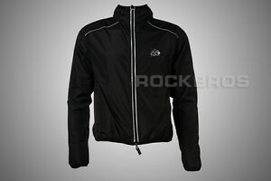 ROCKBROS-Cycling-Coat-Wind-Coat-Rain-Coat-Long-Sleeve-Black