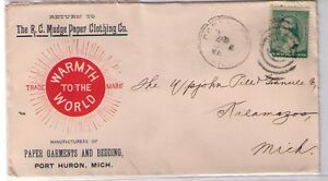 R-C-Mudge-Paper-Clothing-Co-Garments-Port-Huron-MI-Multicolor-Cover-188-XX0142