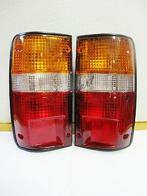 REAR TAIL LIGHTS LAMP PAIR LH+RH FOR TOYOTA HILUX PICKUP 1989-1995 91 92 93 MK3