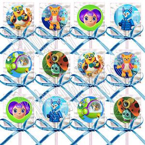 Disney-Jr-SPECIAL-AGENT-OSO-Lollipops-w-Blue-Bow-Ribbons-Party-Favors-12-pcs