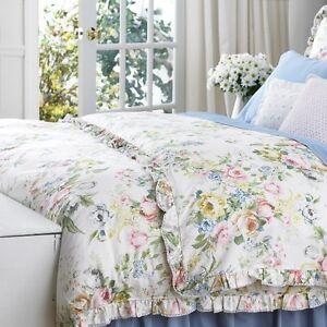 Ralph Lauren Home Lake Floral 7p Queen Duvet Cover Set Ebay