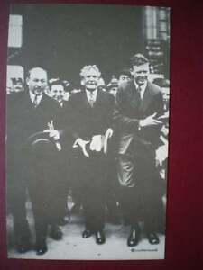 POSTCARD-HISTORICAL-FIGURES-CHARLES-LINDBERGH-IN-PARIS-1927