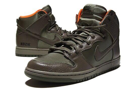 Nike SB verde Dunk High Frank Kozik verde SB oliva naranja QS Janoski 313171-328 plumín de acero aa2e5c