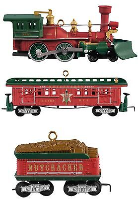 Hallmark 2012 Lionel Nutcracker Route Christmas Train Locomotive Set of 3