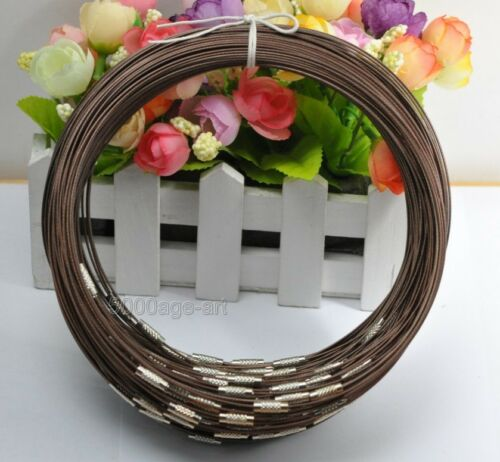 10pcs Acier Inoxydable fil câble acier 1 mm chaîne cordon collier charms