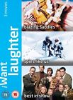I Want Laughter - Blazing Saddles/Spies Like Us/Best In Show (DVD, 2008, 3-Disc Set, Box Set)