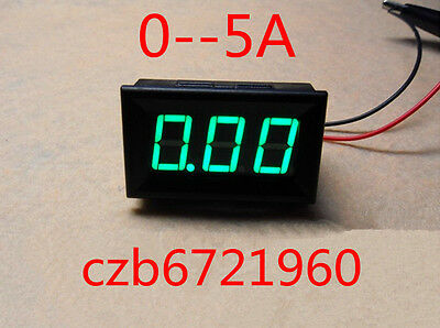 NEW Green LED Panel Meter Mini Digital Ammeter DC 0 To 5A