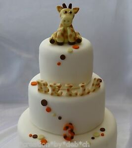 Image Is Loading Ultimate Edible Sugar Giraffe Letters Number Amp Spots