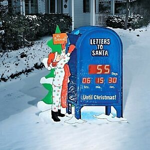 RETRO LIGHTED OUTDOOR HOLIDAY COUNTDOWN TO CHRISTMAS CLOCK ...