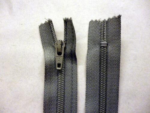 """Reißverschluss,Reißverschluss 10 /""""// 25cm Rock Kleid Ce,Nylon YKK  Greys Schwarz"""