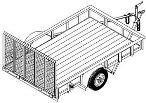 Home Plans With Tandem Garages besides Trailer Plans also Toy Car Axle moreover 2 Horse Trailer  4 Wheel Tandem Trailer further Free Utility Trailer Plans Blueprints. on tandem trailer plans