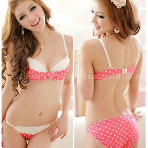 Bra Set Lace Bras Panty Womens Sexy Cute Underwear push up Size B ...
