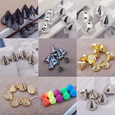 40pcs Acrylic spikes rivet studs taper beads spacer cone findings fit bracelet