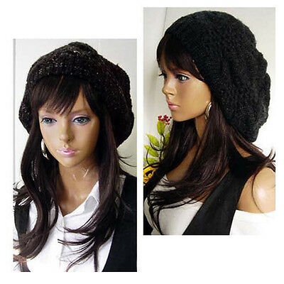 7 Colors Women Girl Warm Winter Beret Braided Baggy Beanie Hat Ski Cap PMM067-1