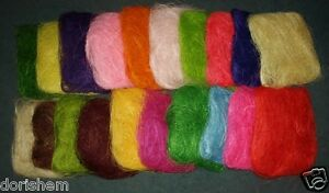 approx-40g-bag-Sisal-Florist-and-all-crafts-decorative-element-many-colors