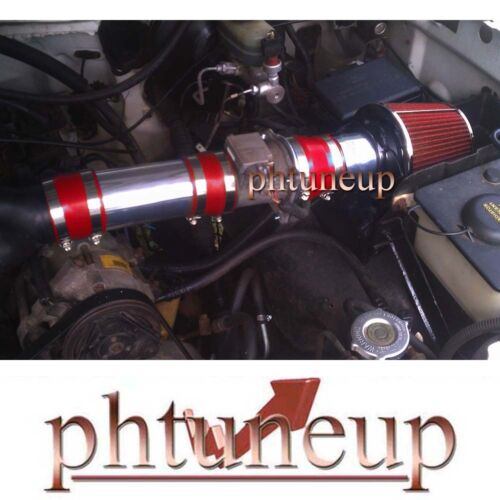 RED 1994-1996 FORD F150 BRONCO XL XLT 5.0 5.0L 5.8 5.8L V8 AIR INTAKE KIT