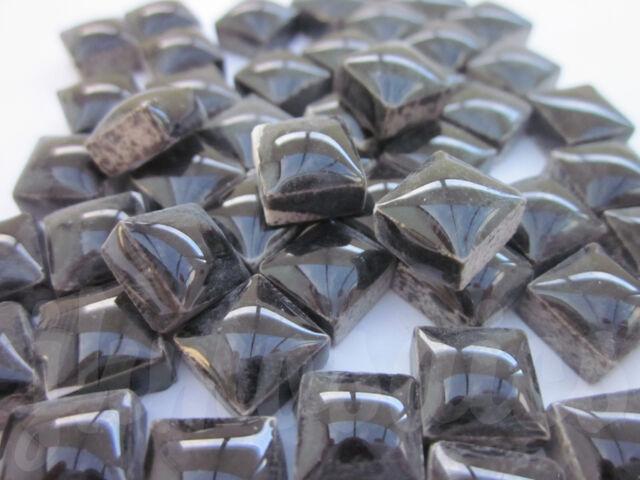 100pcs - 110grams Micro Ceramic Mosaic Tiles Black BK1
