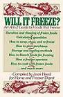 Will It Freeze? An A to Z Guide to Foods That Freeze by Simon & Schuster (Paperback, 1982)