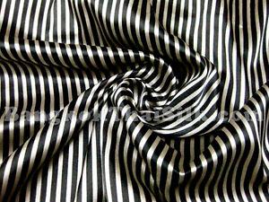BLACK-PALE-GOLD-STRIPE-SOFT-SATIN-FABRIC-CLOTHING-DRESS-SKIRT-SHIRT-PILLOW