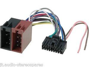 sony car radio stereo old 18 pin wiring harness iso loom ... xr6000 sony car audio wiring