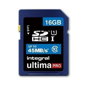 INTEGRAL 16GB ULTIMA PRO SDHC 45MB/S CLASS 10 MEMORY CARD FAST SPEED SD CARD