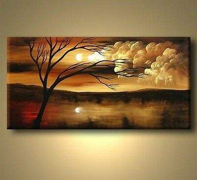 Contemporary Abstract Painting Oil On Canvas Wall Art Large (no Framed) 240x80CM