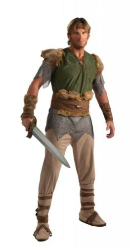 Valiant Viking Warrior Medieval Barbarian Fancy Dress Up Halloween Adult Costume