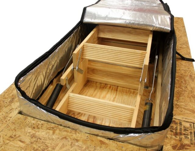 Draft-Out Attic Stair Cover, with ARMA FOIL Seal Access Door, 22 x 54 x 8,Tent