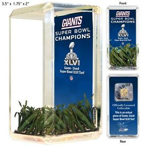 New-York-Giants-Super-Bowl-XLVI-Game-Used-Turf-Desktop-Collectible