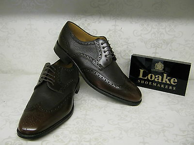 Loake Arlington Brown Leather Smart Brogue Lace Up Shoes