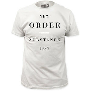 New new order substance 1987 classic vynl cover band logo for Order shirts with logo