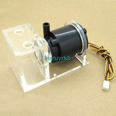 12V DC Water pump with tank For Computer CPU CO2 Laser Liquid Cooling System pc
