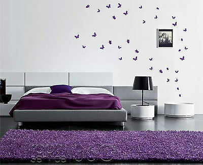 42 Butterfly wall Art Stickers up to 42 vinyl wall decals room design decor
