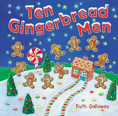 Ten Gingerbread Men (Moulded Counting Books), Acceptable, Galloway, Ruth, Book