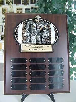 FANTASY FOOTBALL PERPETUAL 15 YEAR AWARD PLAQUE FREE ENGRAVING TROPHY