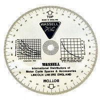 Vespa & Lambretta Engine Timing Degree Disc For Ignition Timing