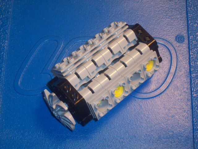 Lego Technic V8 Engine Kit Motor Piston Cylinder Fan