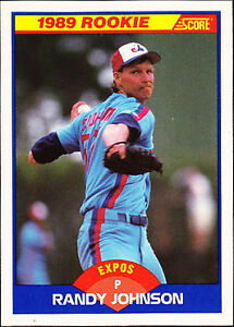 1989 Score Randy Johnson Montreal Expos 645 Baseball Card