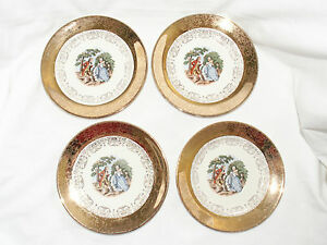 SABIN-CREST-O-GOLD-WARRANTED-22K-TRANSFER-PATTERN-SMALL-PLATES