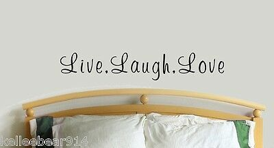 "Live Laugh Love Vinyl Wall Decal Sticker,  Romantic Life Classic Quote 9"" - 60"""