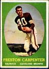1958 Topps Preston Carpenter Cleveland Browns #128 Football Card