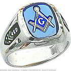 FindingKing 14k White Gold Masonic Mens Ring Jewelry Size 9