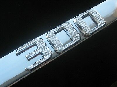 Chrysler 300 chrome license plate frame iced out swarovski crystals