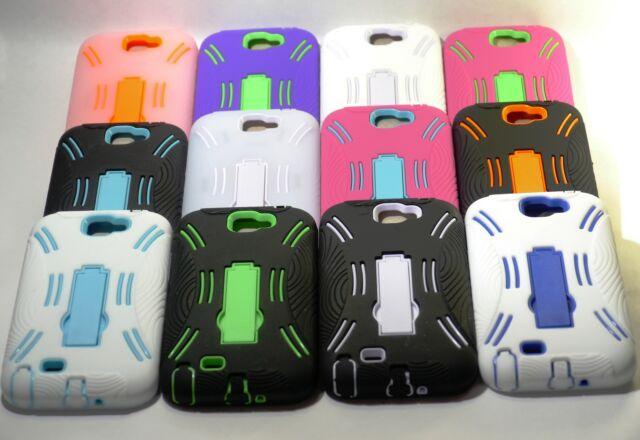 Colorful Heavy Duty Impact Rugged Case w/ kickstand for Samsung Galaxy Note 2 II
