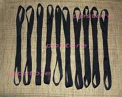 "TEN (10x) Premium SOFT 1""x18"" Motorcycle Tie Down Harley Bike Straps BLACK BS10B"