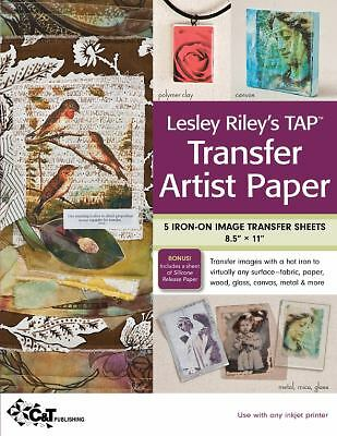 Lesley Riley's TAP Transfer Artist Paper : 5 Iron-on Image Transfer Sheets 8....