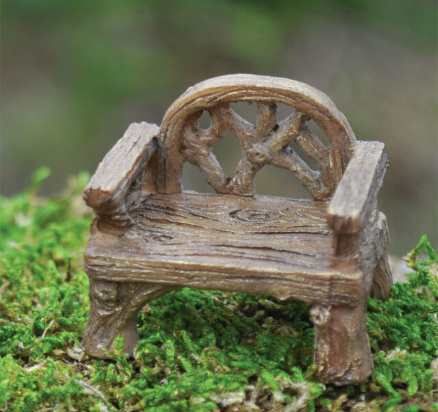 Rustic Chair and Bench  Miniature Fairy Faerie Gnome Hobbit Garden GO