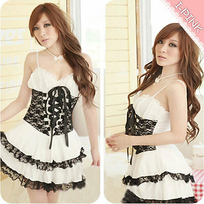C05066 white New Lolita Princess Girl dress lace cake cosplay costumes outfit